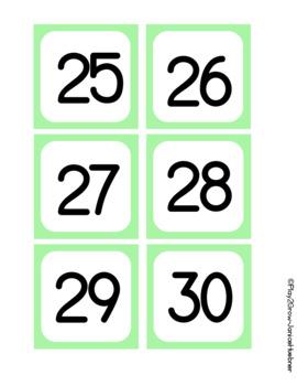 BACK TO SCHOOL Light Green Calendar Cards