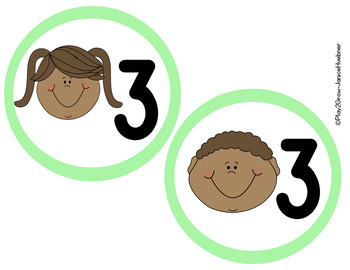 BACK TO SCHOOL Light Green Center Names and Numbers