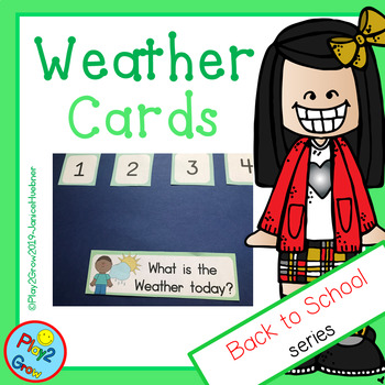 BACK TO SCHOOL Light Green Weather Calendar Cards