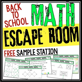BACK TO SCHOOL MATH ESCAPE ROOM - FREE STATION