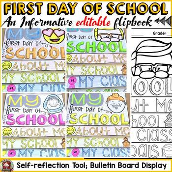 BACK TO SCHOOL {MY FIRST DAY} FLIPBOOK