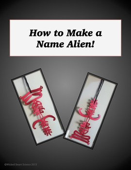 "Back to School  - Making a Personality ""Name Alien"" Activity"