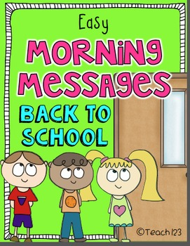 BACK TO SCHOOL Morning Messages