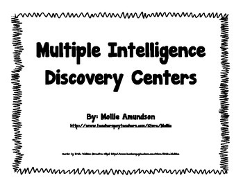 BACK TO SCHOOL: Multiple Intelligence Discovery Centers