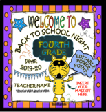 BACK TO SCHOOL NIGHT POWER POINT (EDITABLE): SAVE TIME!