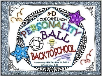 """""""BACK TO SCHOOL NIGHT"""" POWER POINT: W/  BLOOM BALL """"PERSONALITY BALL"""""""