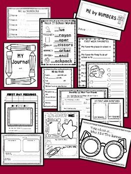 BACK TO SCHOOL { NO PREP } LANGUAGE ARTS / READING SKILLS