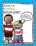 BACK TO SCHOOL Noun Sort and Guided Worksheet