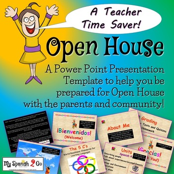 BACK TO SCHOOL: OPEN HOUSE-a Power Point Template for your Teacher Presentation