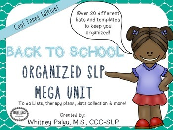 BACK TO SCHOOL ORGANIZED SLP - Cool Tones Edition
