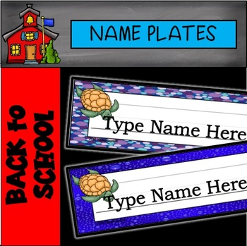 Editable Ocean Name Plates Ocean