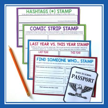 BACK TO SCHOOL ACTIVITY: PASSPORT