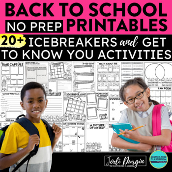 First Week of School Activities - a Clutter-Free Back to S