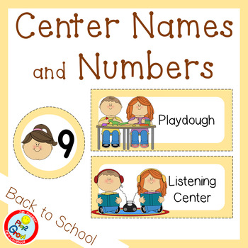 BACK TO SCHOOL Peach Center Names and Numbers