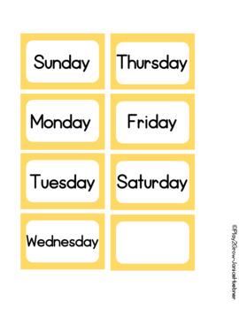 BACK TO SCHOOL Peach Calendar Cards