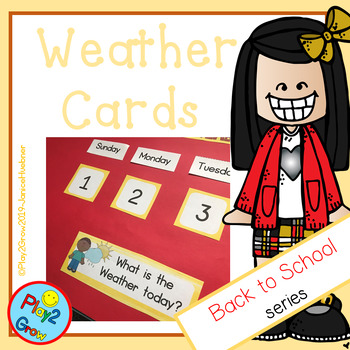 BACK TO SCHOOL Peach Weather Calendar Cards