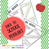 BACK TO SCHOOL Pennant Banner Student Activity