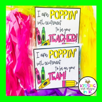 BACK TO SCHOOL Poppin' Popcorn Tags