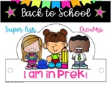BACK TO SCHOOL PreK 48 HATS / CROWNS FIRST DAY OF SCHOOL P