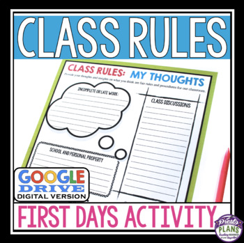 BACK TO SCHOOL RULES DIGITAL ACTIVITY