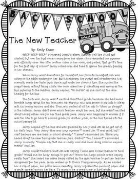 BACK TO SCHOOL Reading Passage