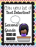 BACK TO SCHOOL Reading Passage: Text EVIDENCE Detectives