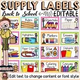 BACK TO SCHOOL KIDS CLASS DECOR: EDITABLE SCHOOL SUPPLY LABELS