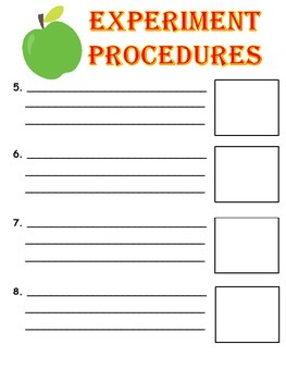 BACK TO SCHOOL SCIENTIFIC METHOD - Experiment Log Booklet