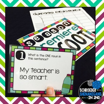 BACK TO SCHOOL SCOOT Task Cards for 2nd grade