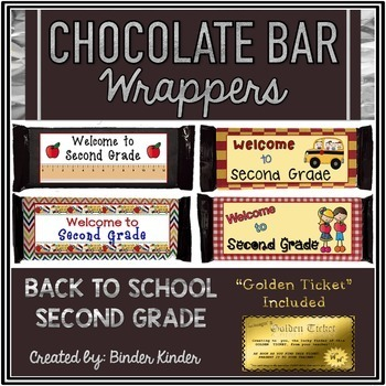 Back to School Chocolate Bar Wrappers-Second Grade