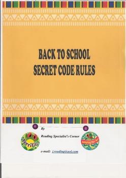 BACK TO SCHOOL SECRET CODE RULES