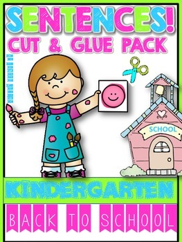 BACK TO SCHOOL SENTENCES CUT AND GLUE PACK!