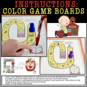 BACK TO SCHOOL SPINNERS & GAME BOARDS, ARTICULATION (SPEECH & LANGUAGE THERAPY)