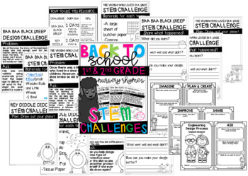 BACK TO SCHOOL STEM CHALLENGES (1ST AND 2ND GRADE)