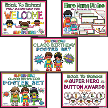 BACK TO SCHOOL SUPERHERO MEGA BUNDLE