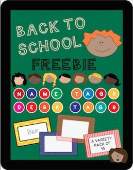 BACK TO SCHOOL TAGS FREEBIE