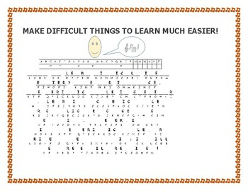 BACK TO SCHOOL TECHNIQUE: MAKE LEARNING EASIER: A CRYPTOGRAM