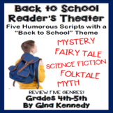 """Back to School"" Reader's Theater Scripts, Five Humorous Plays Students Love!"