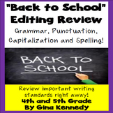 """Back to School"" Writing & Editing Practice Activities"