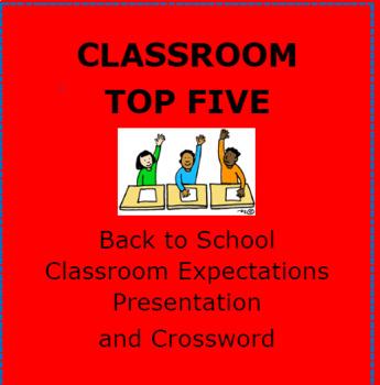 BACK TO SCHOOL:  Top Five Classroom Behaviors Presentation