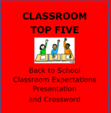 BACK TO SCHOOL:  Top Five Classroom Behaviors Presentation