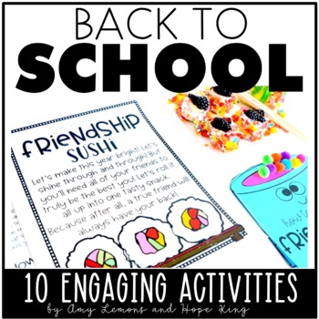 Engagement Made Easy:  Top 10 BACK TO SCHOOL Activities
