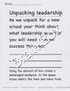 BACK TO SCHOOL-UNPACKING  LEADERSHIP THROUGH ART