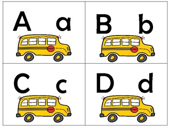 BACK-TO-SCHOOL/Uppercase to lowercase match puzzles
