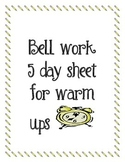BACK TO SCHOOL! WARM UP SHEET