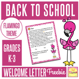 BACK TO SCHOOL WELCOME LETTER TEMPLATE 1