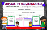 Back to School Welcome Mats--Kindergarten