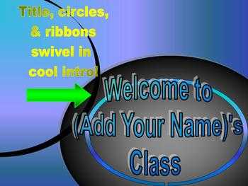 BACK TO SCHOOL- WELCOME TO MY CLASS- POWERPOINT TEMPLATE