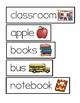 BACK TO SCHOOL WORD CARDS (FREEBIE!)