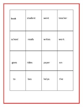 BACK TO SCHOOL WORD TILES: FORMING SENTENCES